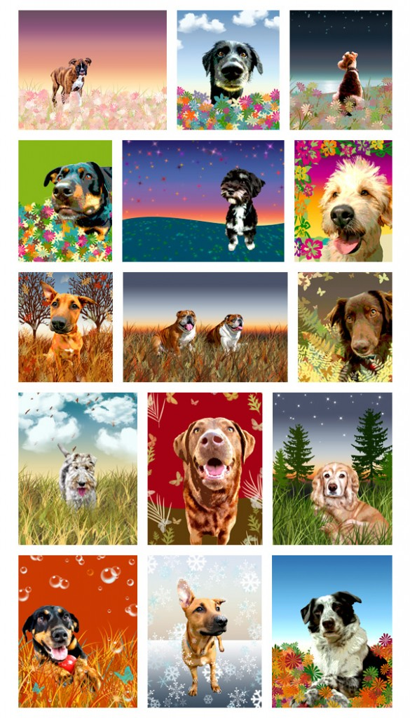 custom modern dog art